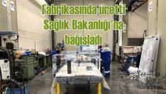 Mercedes-Benz Türk üretti Sağlık Bakanlığı'na bağışladı