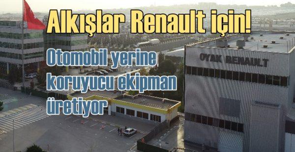 Oyak Renault virüse karşı koruyucu ekipman üretiyor