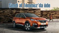 Peugeot'yu şimdi al Temmuz'da ödemeye başla