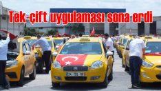 Taksilerde tek-çift plaka uygulaması sona erdi