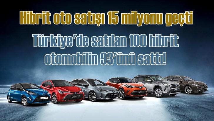 Toyota'nın hibrit otomobil satışları 15 milyonu geçti