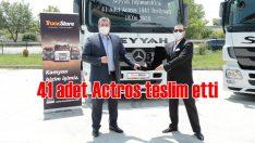 TruckStore'dan Seyyah Taşımacılık'a 41 adet Actros teslimatı