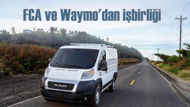 FCA ve Waymo'dan otonom sürüşte iş birliği