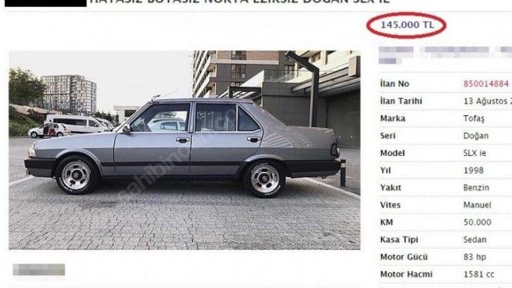 Tofaş'a Yazılan Fiyat Dudak Uçuklattı