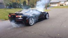 C7 Corvette Z06 Nasıl Lastik Yakılmaz?