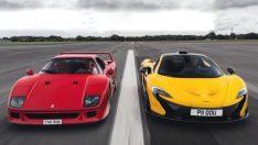 Ferrari F40 ve McLaren P1 Karşı Karşıya!