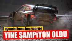 Hyundai Motorsport WRC'de Yine Şampiyon