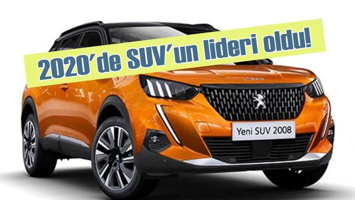 2020'de SUV segmentinin en çok satan markası Peugeot oldu