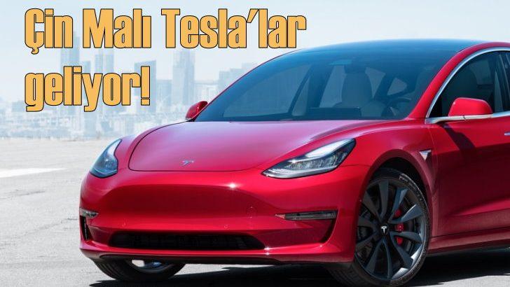 Çin Malı Tesla'lar geliyor