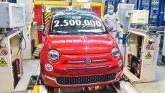 Fiat 500, 2.5 milyon üretim adedine ulaştı
