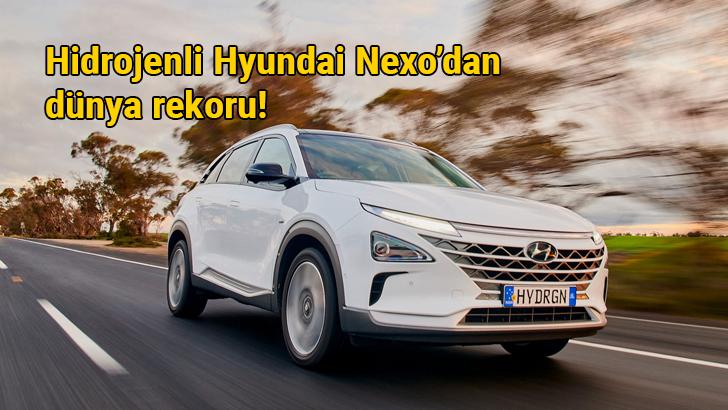 Hidrojenli Hyundai Nexo'dan dünya menzil rekoru: 887.5 km