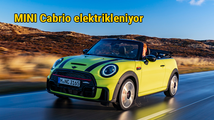 MINI'nin tamamen elektrikli ikinci modeli: MINI Cabrio