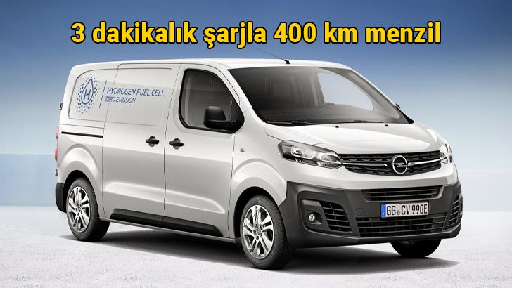 Opel Vivaro-e HYDROGEN 3 dakikalık şarj ile 400 km menzil yol gidiyor