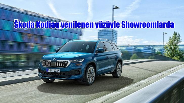 Škoda Kodiaq yenilenen yüzüyle Showroomlarda